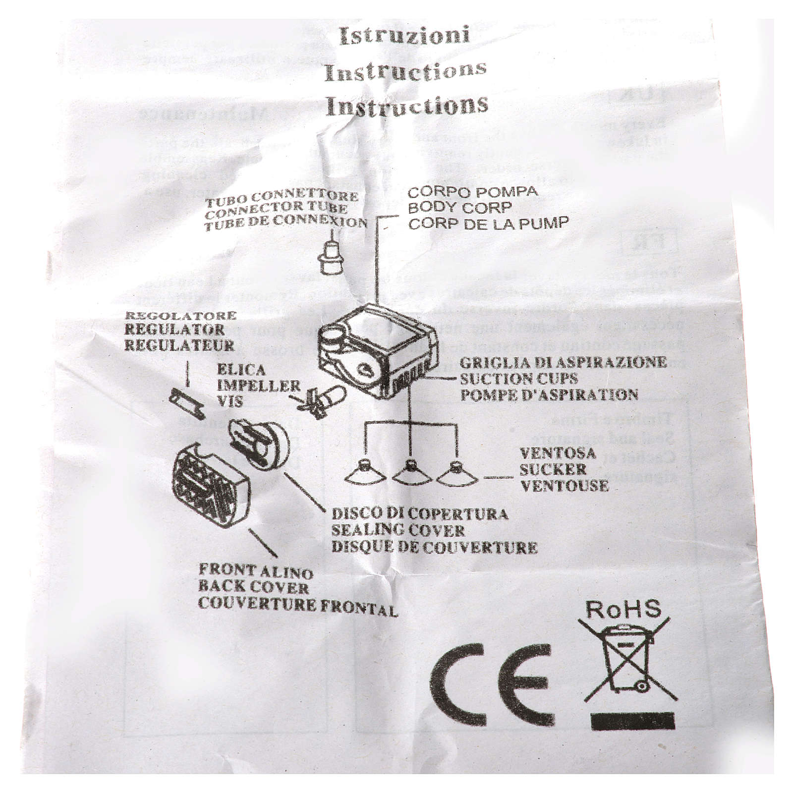 Pompa wodna szopka 2.5W 150l/h 4