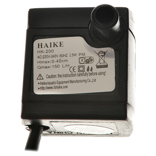 Bomba água para presépio 2,5W 150 l/h 3