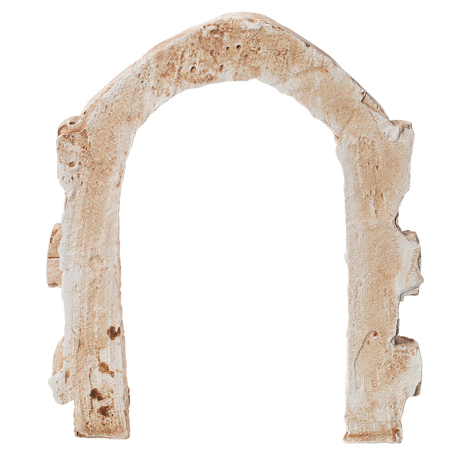 Porta arco in gesso per presepe dim. 15x13 cm 4