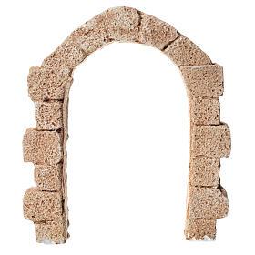 Porta arco in gesso per presepe dim. 15x13 cm s1