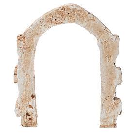 Porta arco in gesso per presepe dim. 15x13 cm s2