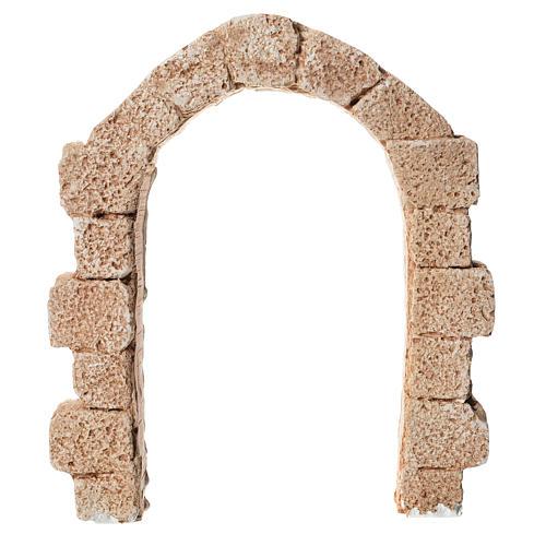 Porta arco in gesso per presepe dim. 15x13 cm 1
