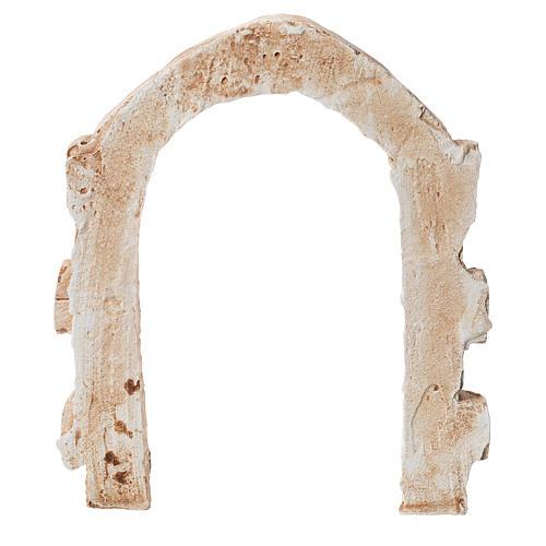 Porta arco in gesso per presepe dim. 15x13 cm 2