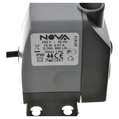 Pompa acqua presepe NOVA 200-800 litri/ora 10W 4