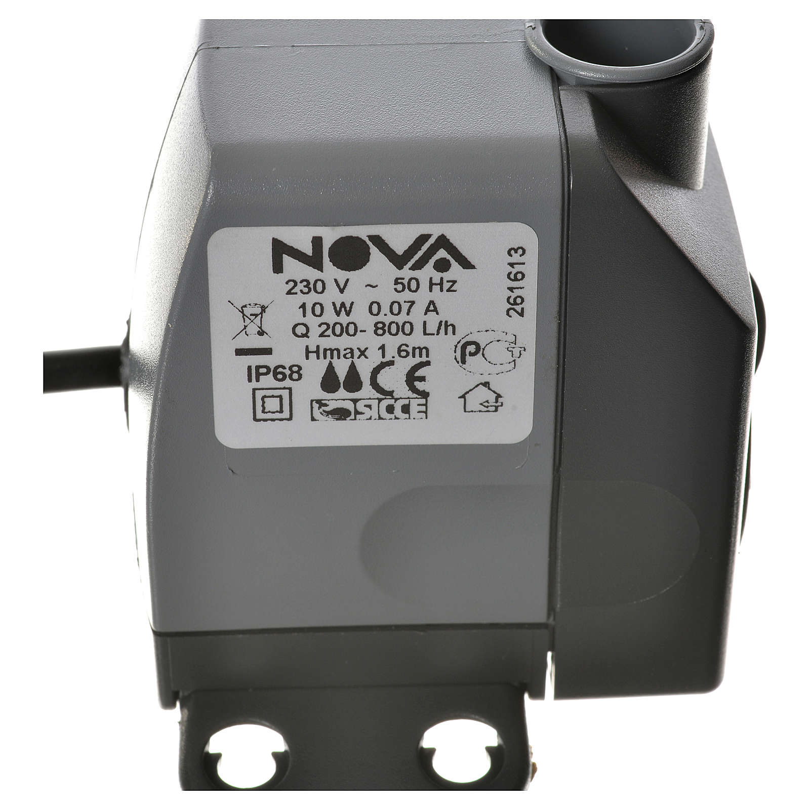 Water pump for nativities, NOVA 200-800 litres/hour 10W 4