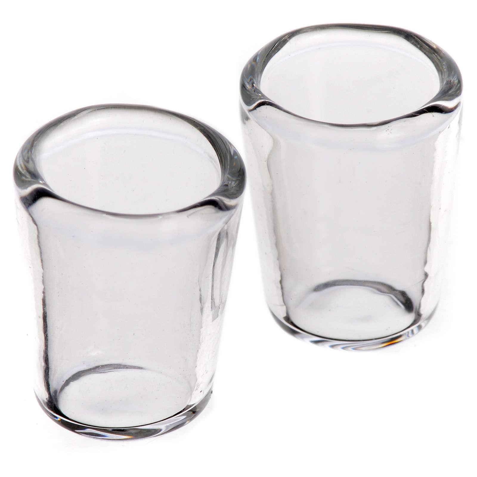 Set 2 Gläser aus Glas 1x0,8cm für Krippe 4