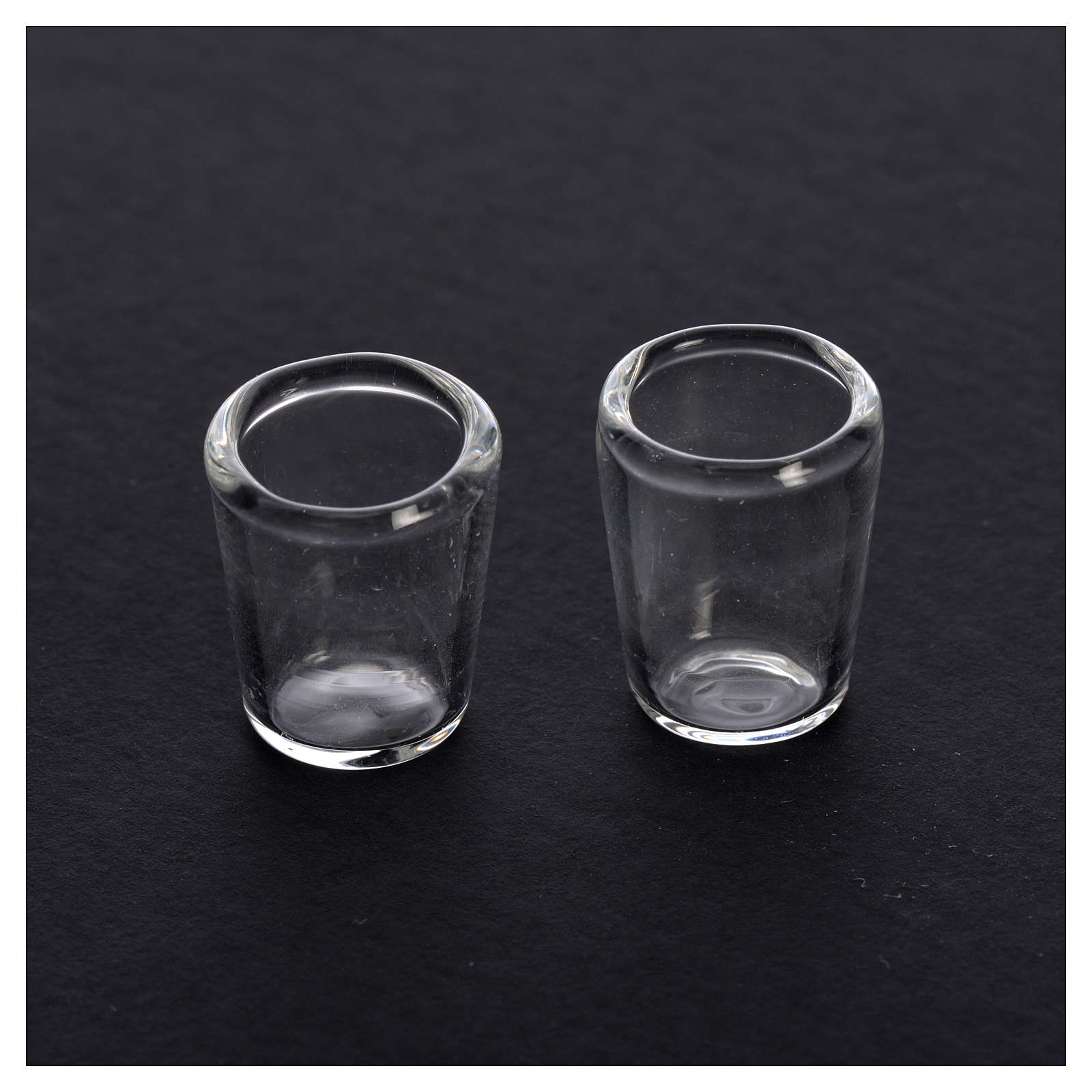 Bicchiere in vetro presepe 1x0,8 cm set 2 pz 4