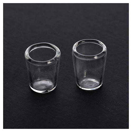 Bicchiere in vetro presepe 1x0,8 cm set 2 pz 2