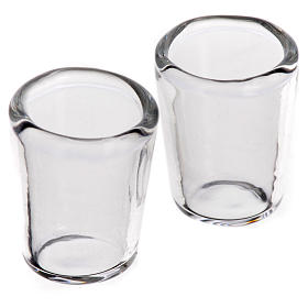 Glass cup, 1x0.8cm for nativities, set of 2 s1