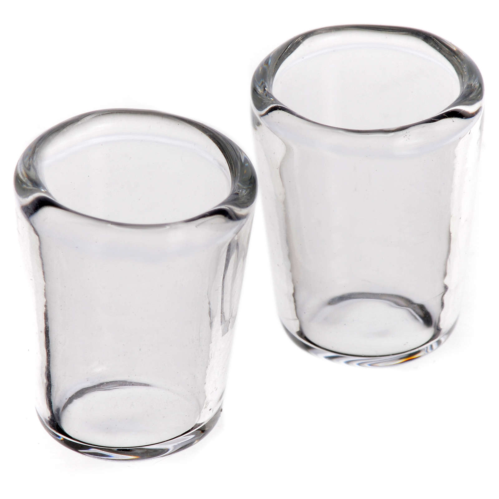 Set 2 verres miniatures en verre crèche 1,2x1,2 cm 4