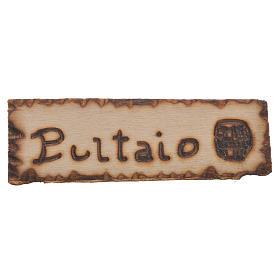 Acessórios de Casa para Presépio: Placa tanoeiro madeira para presépio 2,5x9 cm