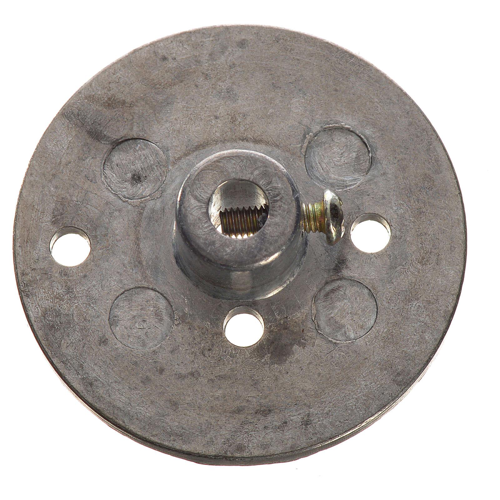 Polea en hierro para motorreductor 35mm, conexión 4mm 4
