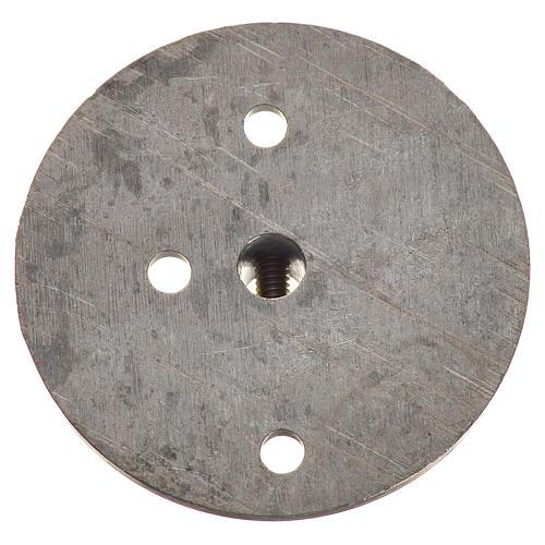 Polea en hierro para motorreductor 35mm, conexión 4mm 2