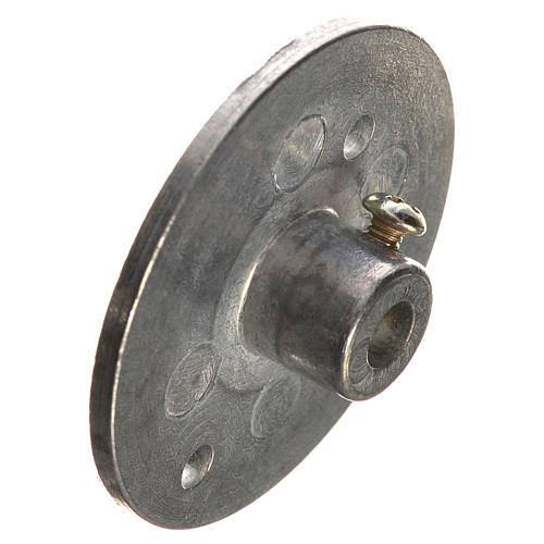 Polea en hierro para motorreductor 35mm, conexión 4mm 3
