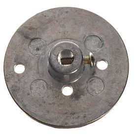 Pompes à eau et moteurs pour crèche de noel: Poulie en fer pour motoréducteur 35mm trou fixation 4mm