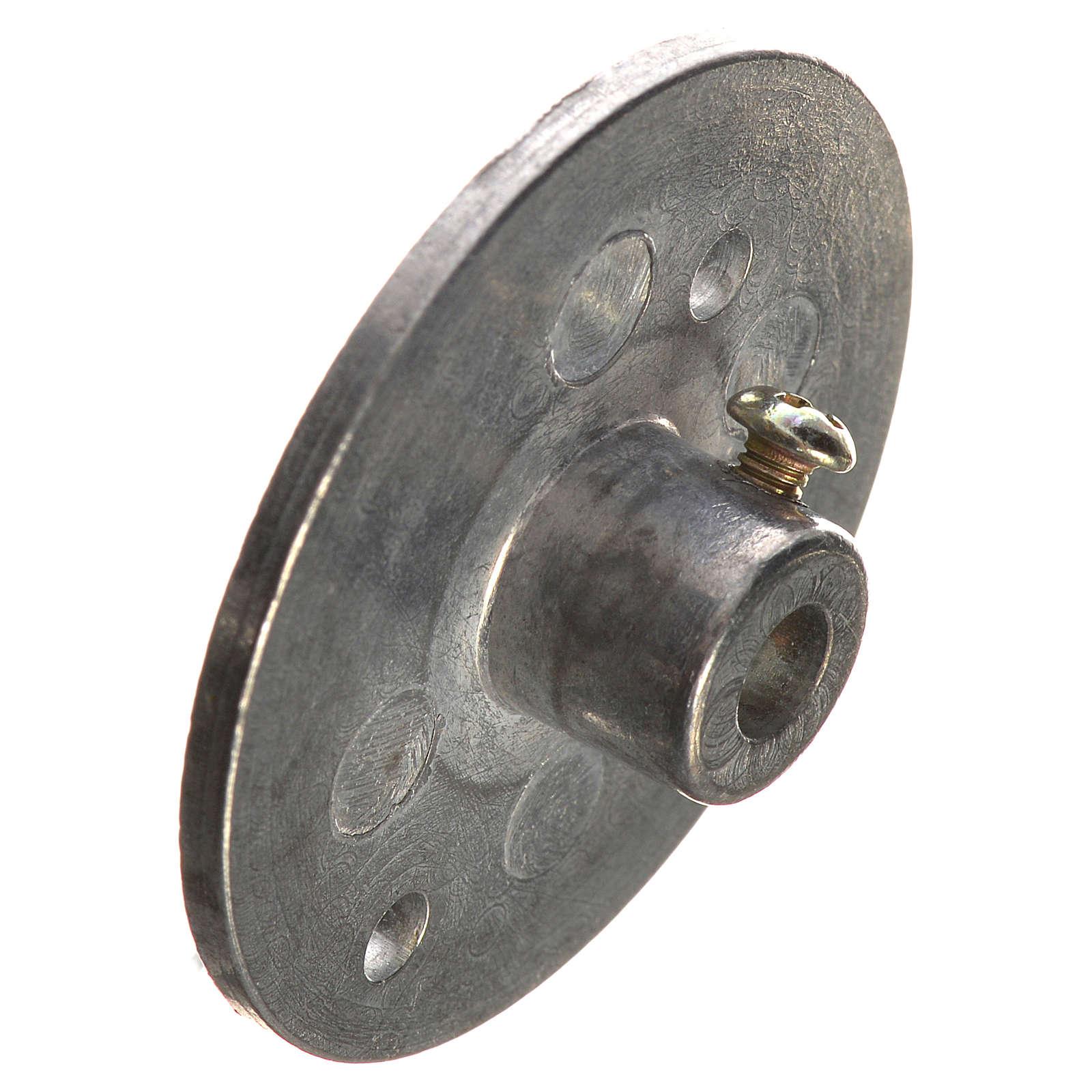 Puleggia in ferro per motoriduttore 35 mm foro attacco 4 mm 4