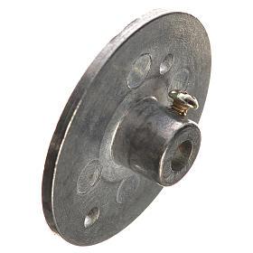 Puleggia in ferro per motoriduttore 35 mm foro attacco 4 mm s3