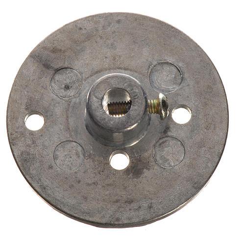 Puleggia in ferro per motoriduttore 35 mm foro attacco 4 mm 1