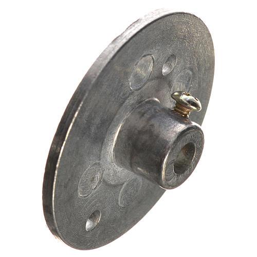 Puleggia in ferro per motoriduttore 35 mm foro attacco 4 mm 3