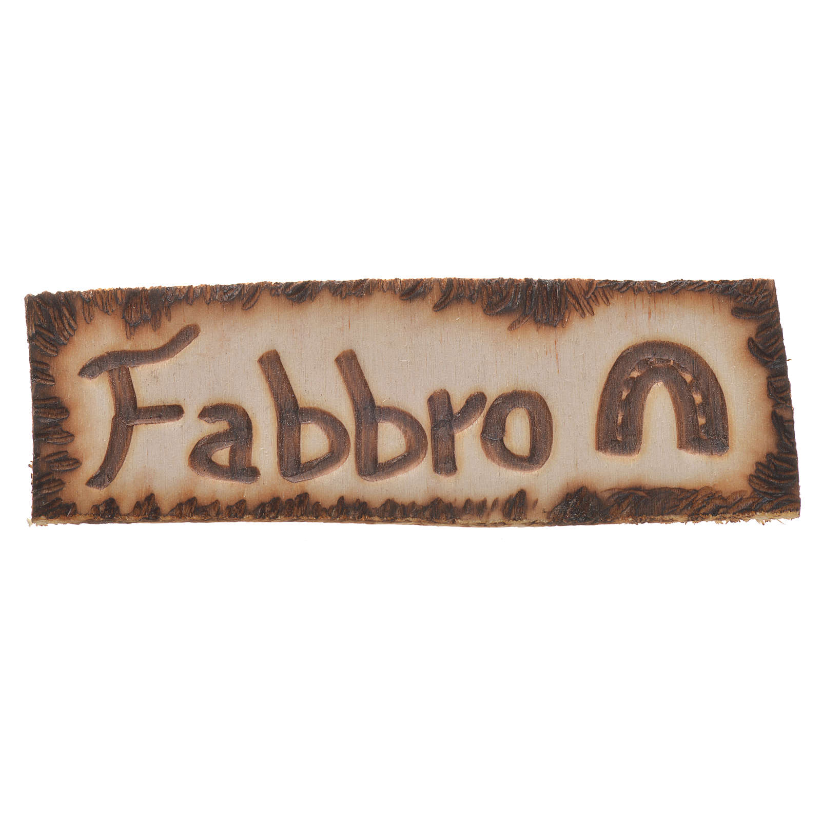 Smith wooden sign, 2.5x9cm for nativities 4