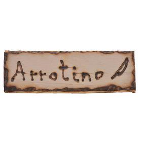 Letrero afilador, madera para belén 2,5x9cm s1