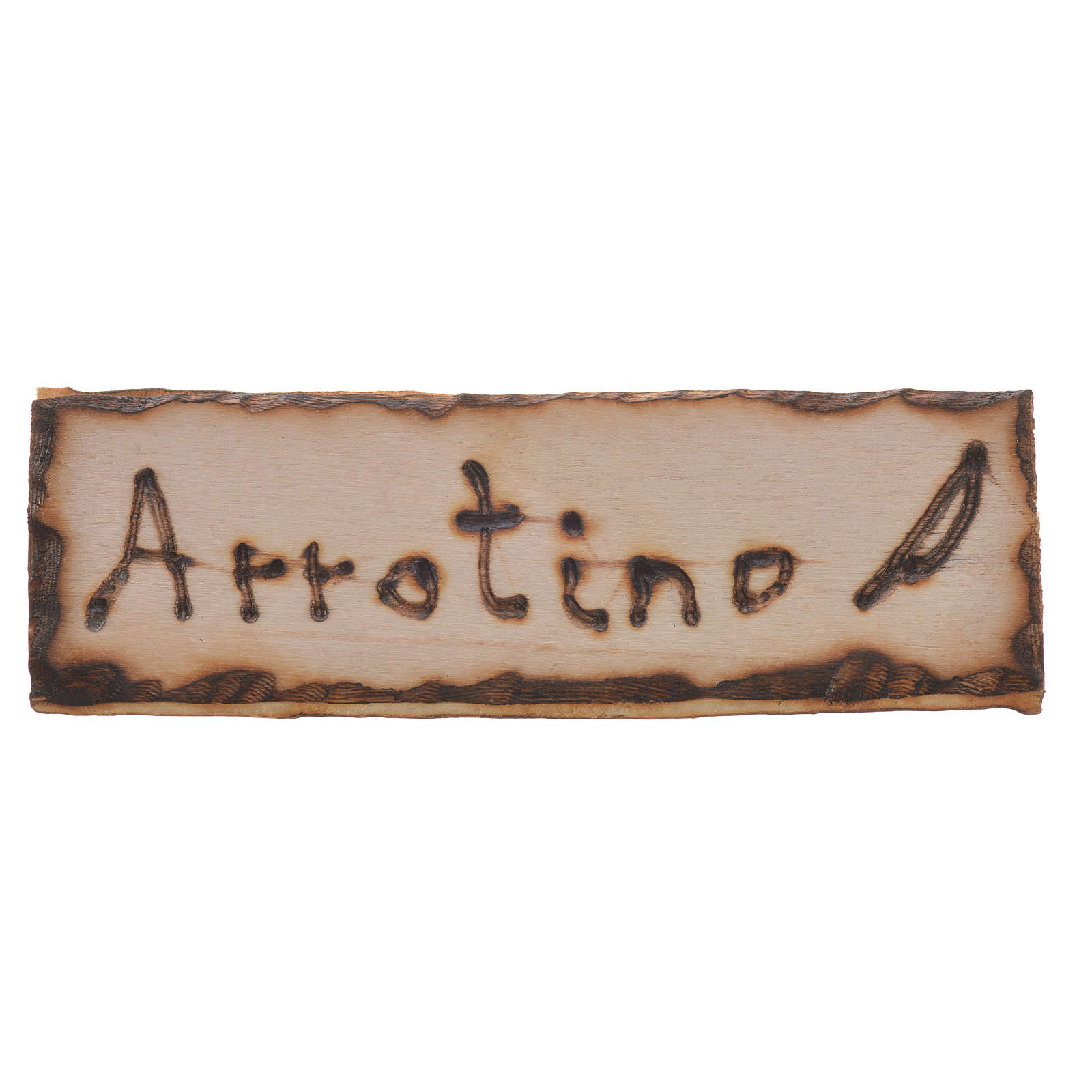 Insegna Arrotino legno per presepe 2,5x9 cm 4