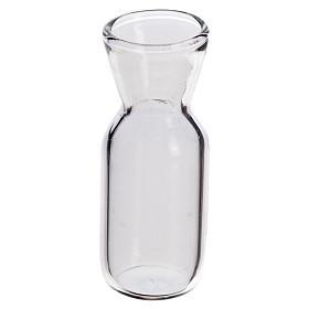 Cuarto de botella de cristal para belén 3.7x1.4cm s1