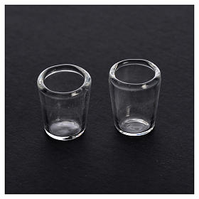 Verres miniatures en verre crèche 1,3x1 cm 2 pcs s2