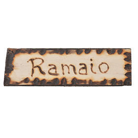 Coppersmith wooden sign, 2.5x9cm for nativities s1