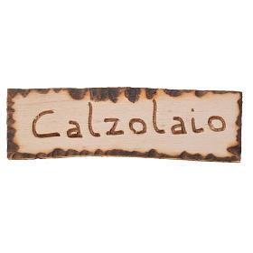 Letrero para tienda del zapatero, belén 2,5x9cm s1