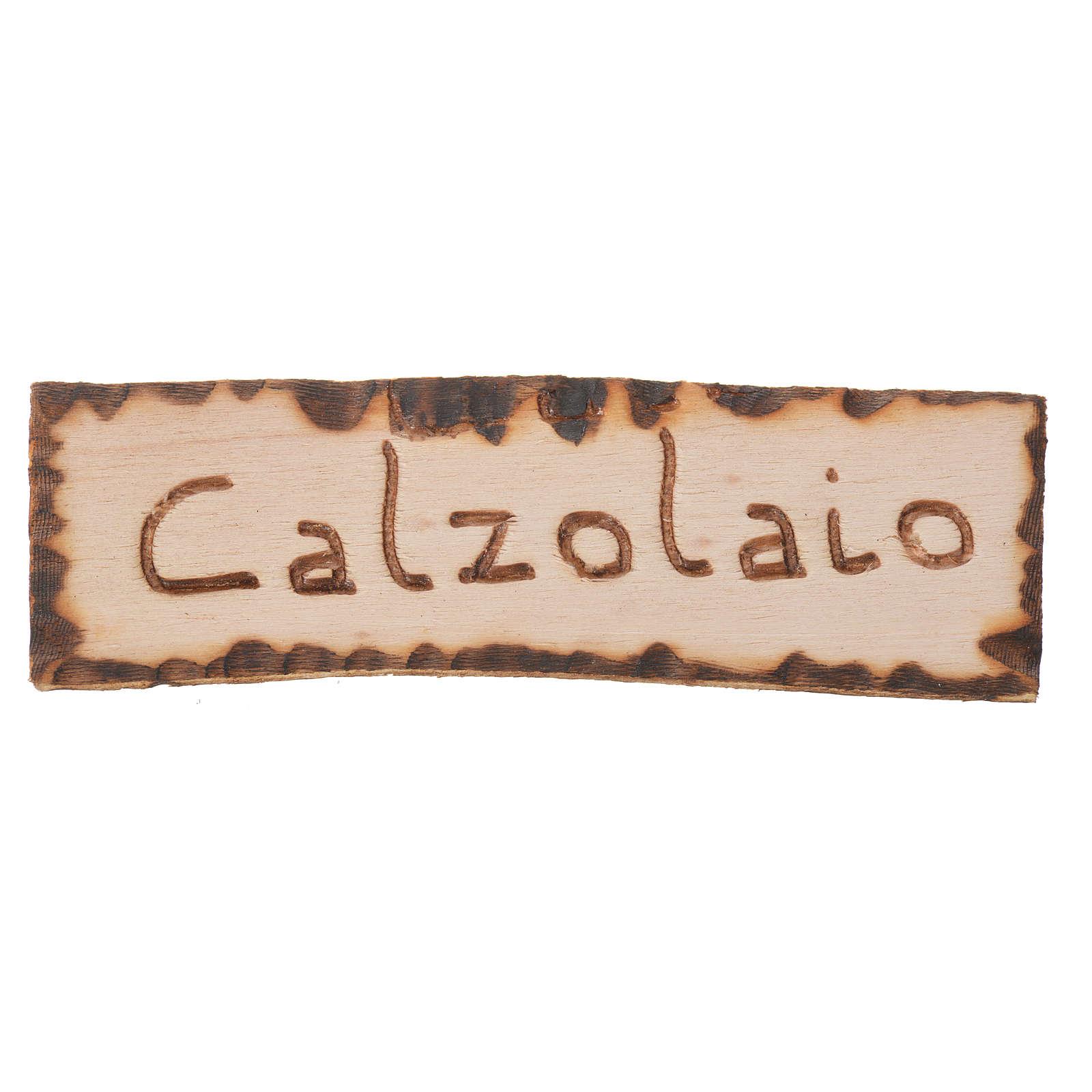 Insegna negozio Calzolaio 2,5x9 cm per presepe 4