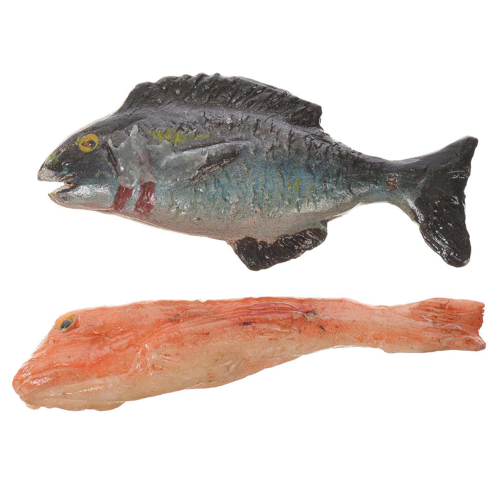 Pesce in cera per figure presepe 20-24 cm modelli assortiti 4
