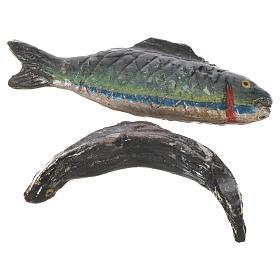 Pesce in cera per figure presepe 20-24 cm modelli assortiti s3