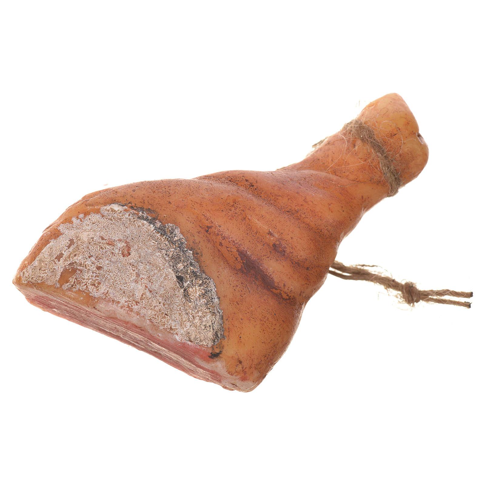 Prosciutto tagliato in cera per figure presepe 20-24 cm 4