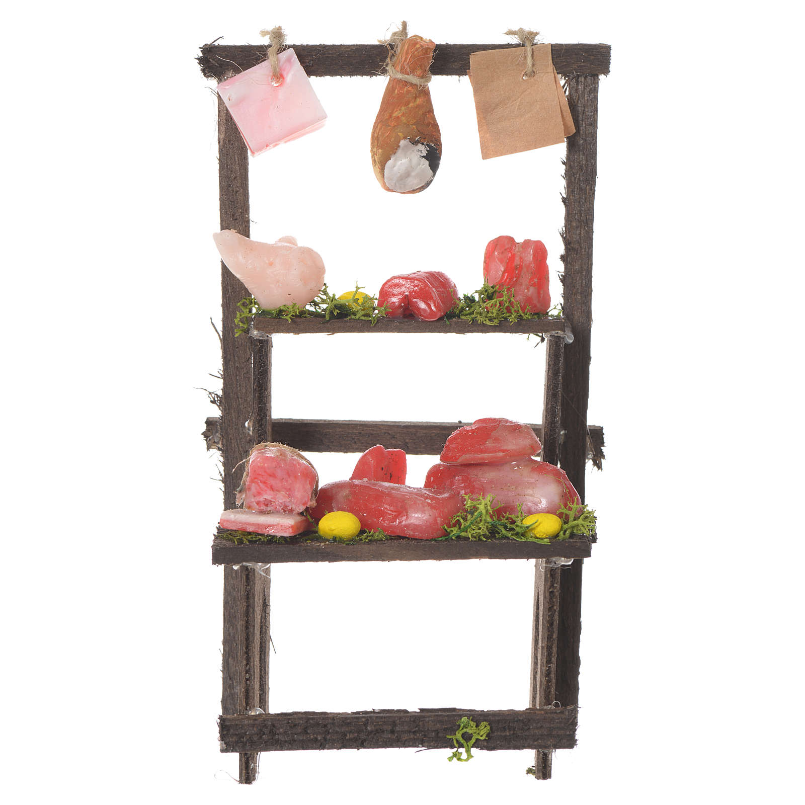 Meat stall in wax, 13.5x8x5.5cm 4