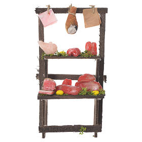 Meat stall in wax, 13.5x8x5.5cm s1