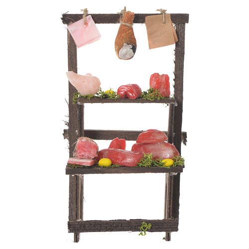 Meat stall in wax, 13.5x8x5.5cm 1