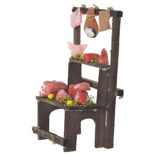 Meat stall in wax, 13.5x8x5.5cm 2