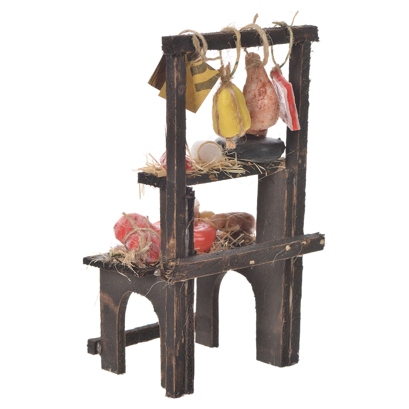 Butcher's stall in wax, 13.5x8x5.5cm 4
