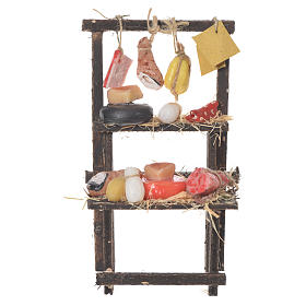 Butcher's stall in wax, 13.5x8x5.5cm s1