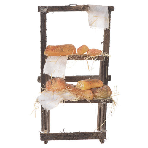 Baker's stall in wax, 13.5x8x5.5cm 1