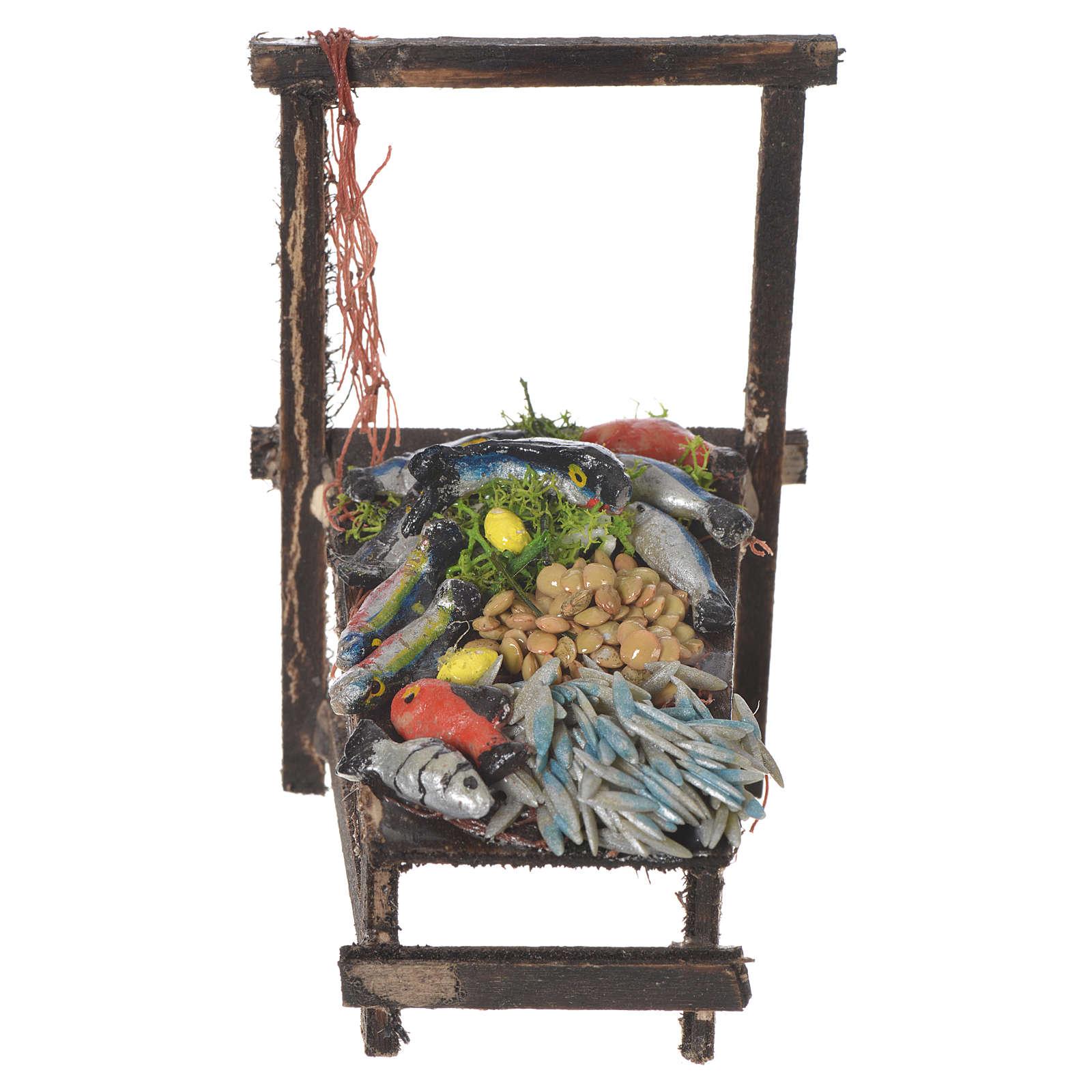 Fishmonger stall in wax, 13.5x8x5.5cm 4