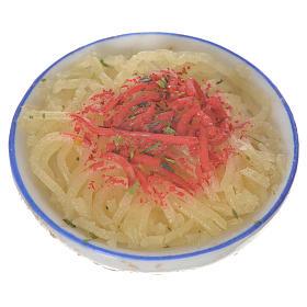 Piatto con pastasciutta in cera per figure 20-24 cm s1