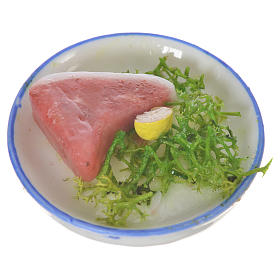 Piatto carne insalata in cera per figure 20-24 cm s1
