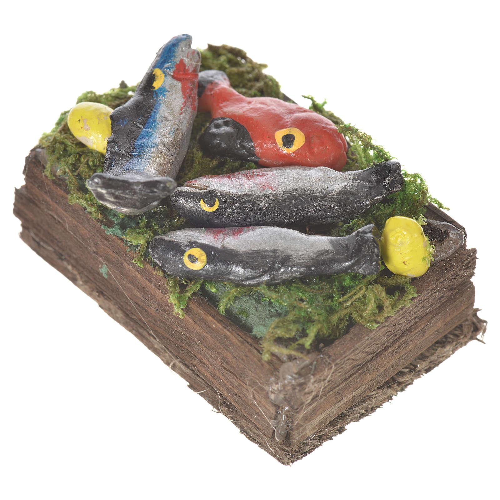 Caja con pescado fresco cera para figuras 20-24 cm 4