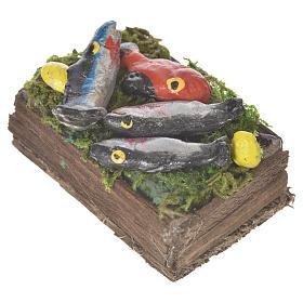 Caja con pescado fresco cera para figuras 20-24 cm s2