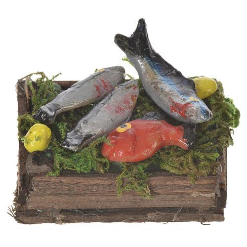 Caja con pescado fresco cera para figuras 20-24 cm 1