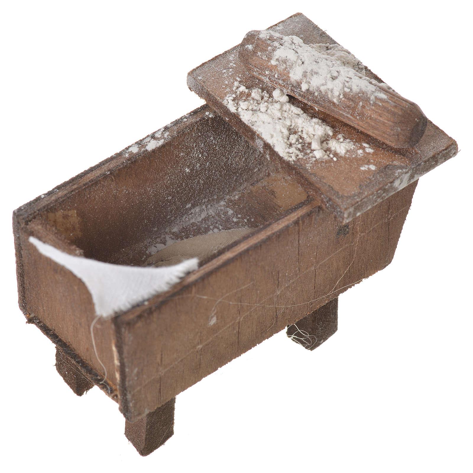 Nativity bread storage chest in terracotta 5x7.5x4cm 4