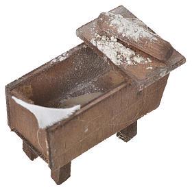 Nativity bread storage chest in terracotta 5x7.5x4cm s4