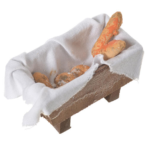 Nativity bread storage chest in terracotta 5x7.5x4cm 2